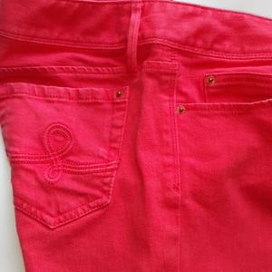 Lily Pulitzer Pink Worth Straight Jeans Sz 6